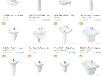 Catalogue lavabo vệ sinh inax