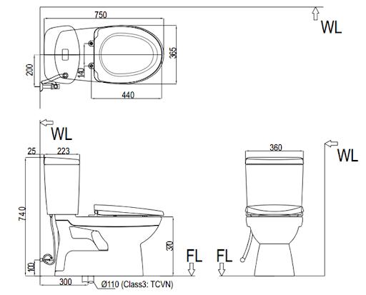 Cách lắp đặt bồn cầu Inax 504
