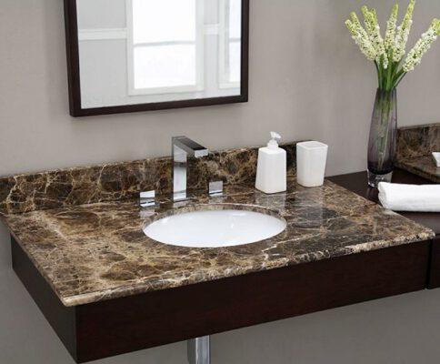 Mặt đá chậu rửa đẹp phòng tắm