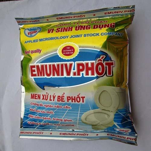 Sản phẩm thông tắc bồn cầu Emuniv-Phốt