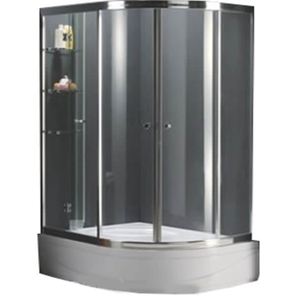 Phụ kiện bên trong bồn tắm đứng dạng đế lửng cũng khá đơn giản