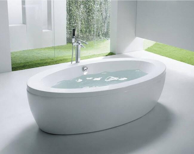 Bồn tắm góc giúp không gian san trọng
