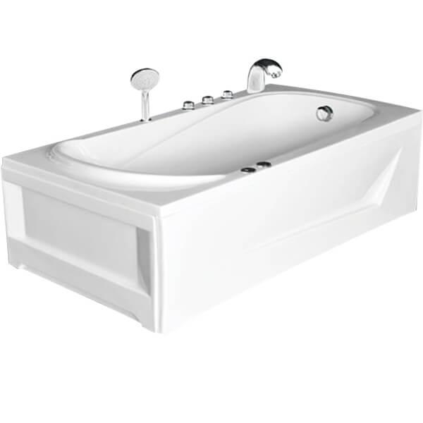 Không gian vừa phải nên chọn kích thước bồn tắm nằm khoảng 1m6