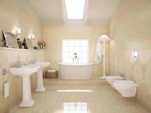lựa chọn gạch ốp nền nhà tắm theo kích thước