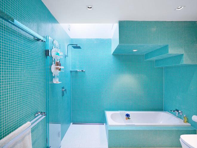 Chọn gạch lát nhà vệ sinh cần chú ý đến màu sắc