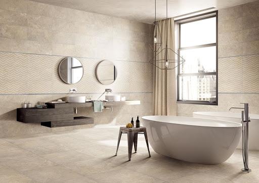 Một mẫugạch Porcelain phòng tắm vô cùng đơn giản nhưng rất đẹp