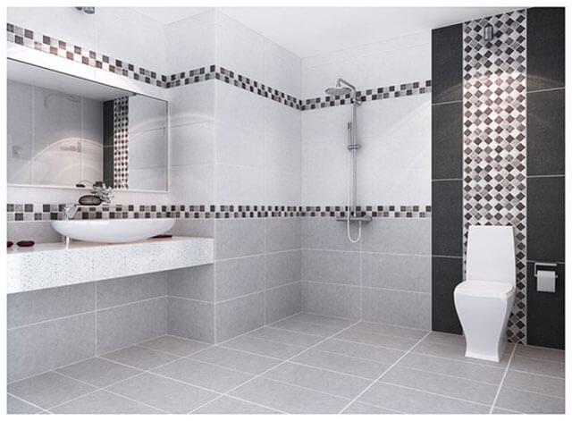 Lựa chọn gạch ốp đẹp giúp nâng cao tính thẩm mỹ cho nhà vệ sinh