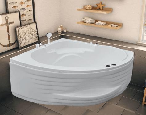 Bồn tắm góc giúp những gia đình nhỏ tiết kiệm được không gian