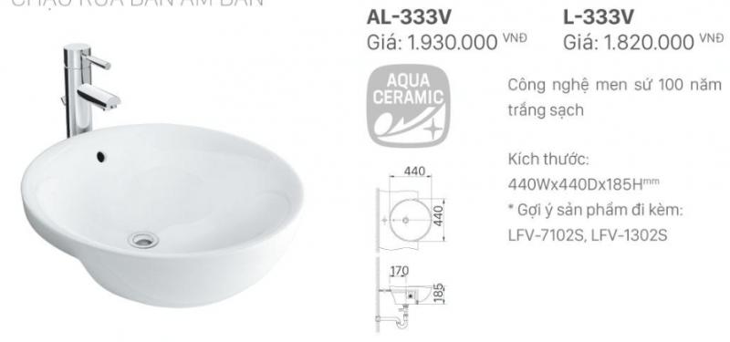 Kích thước của bồn rửa mặt được thiết kế âm bàn