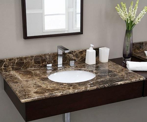 lavabo âm bàn đá granite
