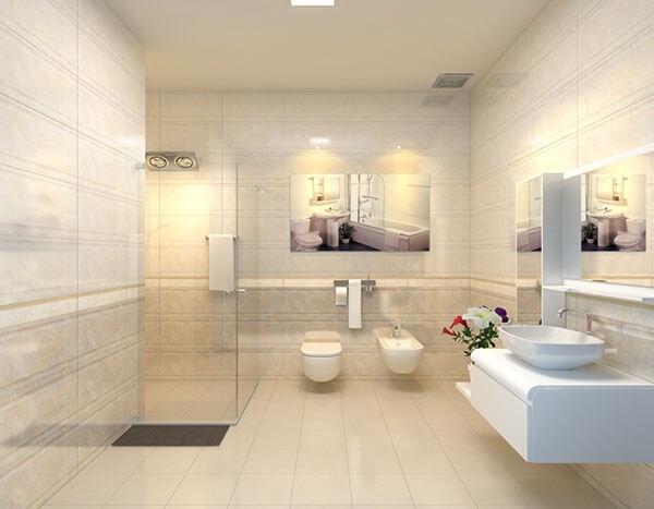 Trải nghiệm nhà vệ sinh có diện tích lớn vô cùng tiện nghi, sang trọng