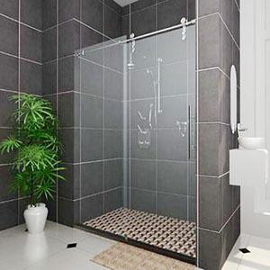 Mẫu vách kính tắm mở trượt vô cùng tiện lợi, hiện đại và sang trọng