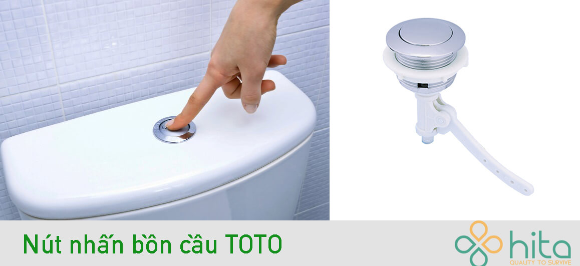 Nút nhấn bồn cầu Toto