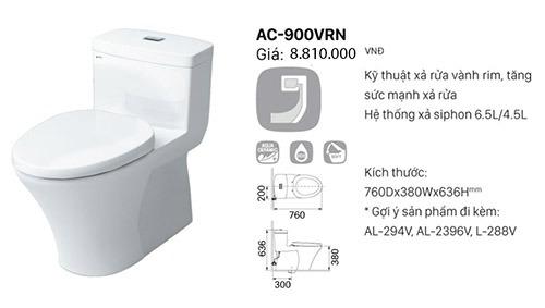 Đặc điểm nổi bật của bồn cầu Inax AC-900VRN