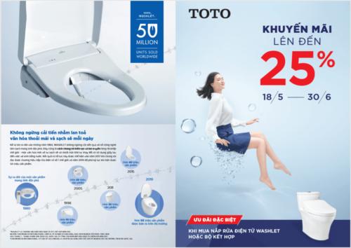 Tem nhãn của thiết bị vệ sinh Toto khuyến mãi