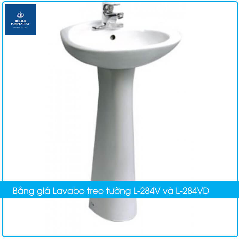 Bảng giá chậu rửa Lavabo treo tường L-284V và L-284VD