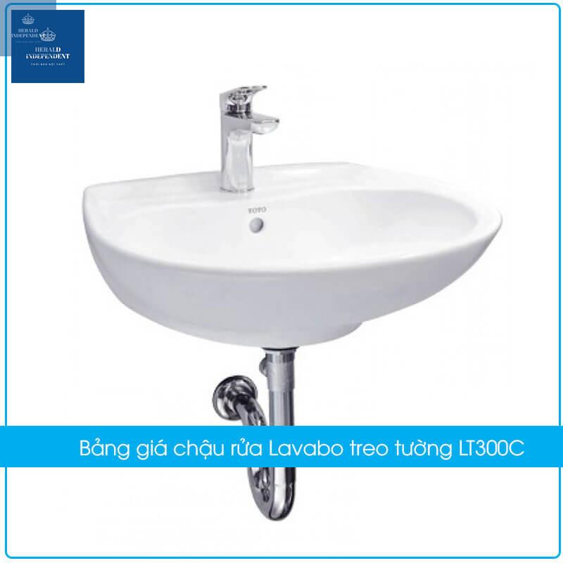 Bảng giá chậu rửa Lavabo treo tường LT300C