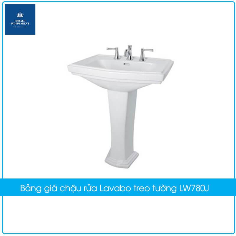 Bảng giá chậu rửa Lavabo treo tường LW780J