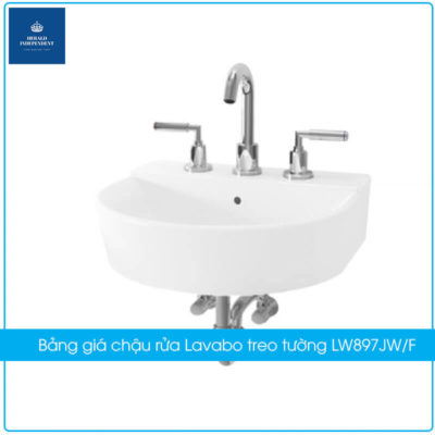 Bảng giá chậu rửa Lavabo treo tường LW897JW-F