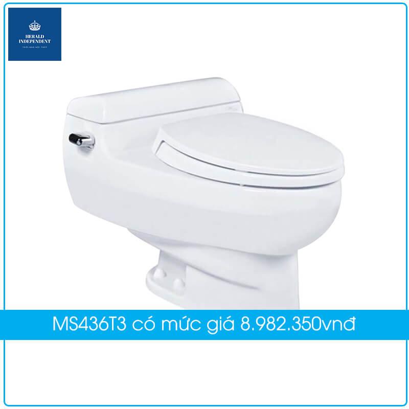 Bồn cầu TOTO 1 khối MS436T3 có mức giá 8.982