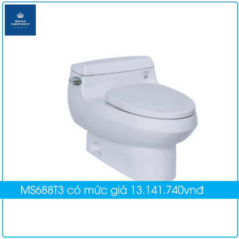 Bồn cầu TOTO 1 khối MS688T3 có mức giá 13.141