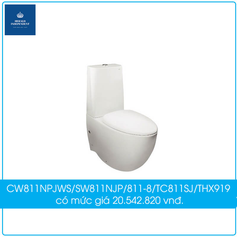 Bồn cầu TOTO 2 khối CW811NPJWS-SW811NJP-811-8-TC811SJ-THX919 có mức giá 20.542.820 vnđ.