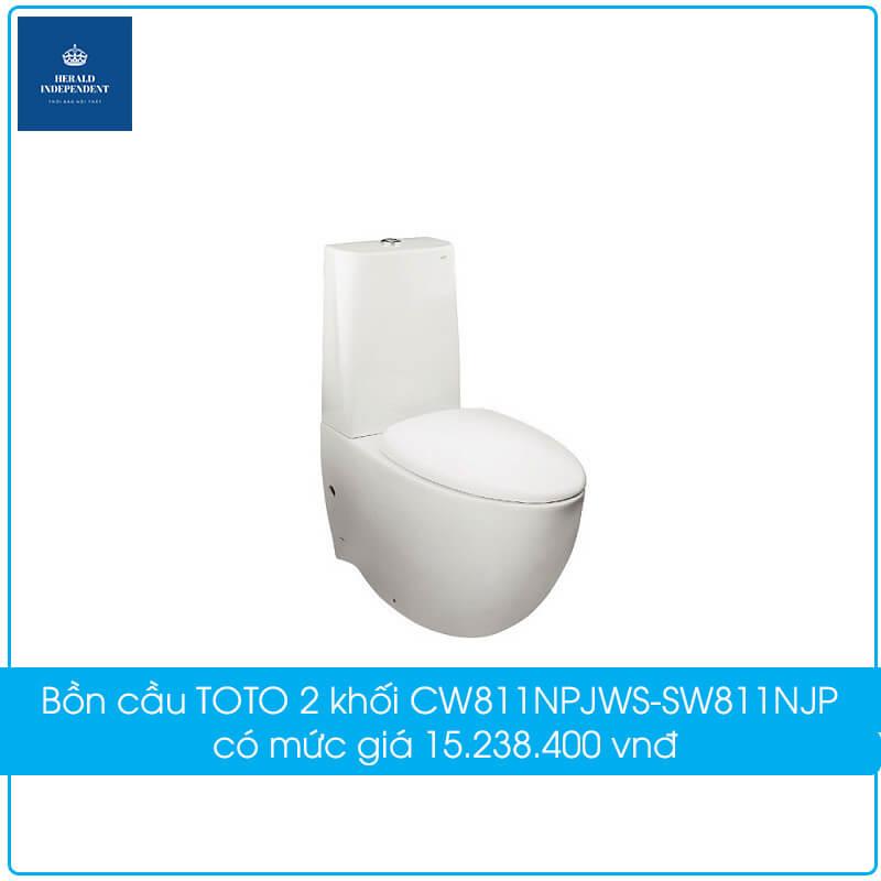 Bồn cầu TOTO 2 khối CW811NPJWS-SW811NJP