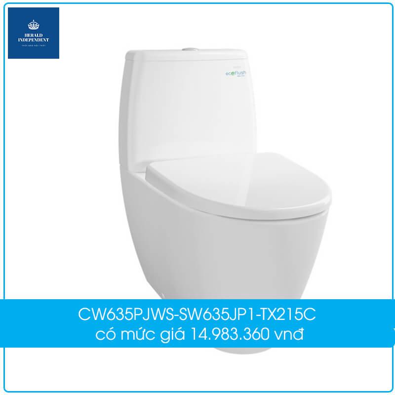 CW635PJWS-SW635JP1-TX215C có mức giá 14.983