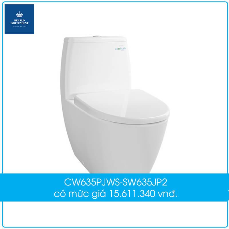 Bồn cầu CW635PJWS-SW635JP2