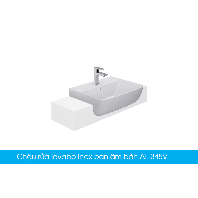 Chậu rửa lavabo Inax bán âm bàn AL-345V