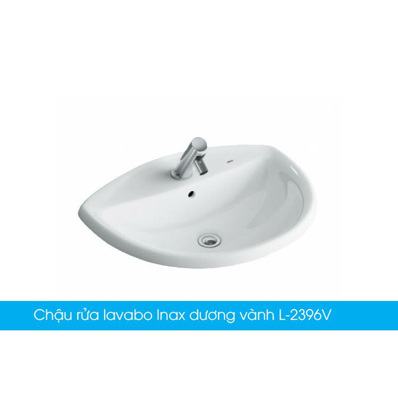 Chậu rửa lavabo Inax dương vành L-2396V