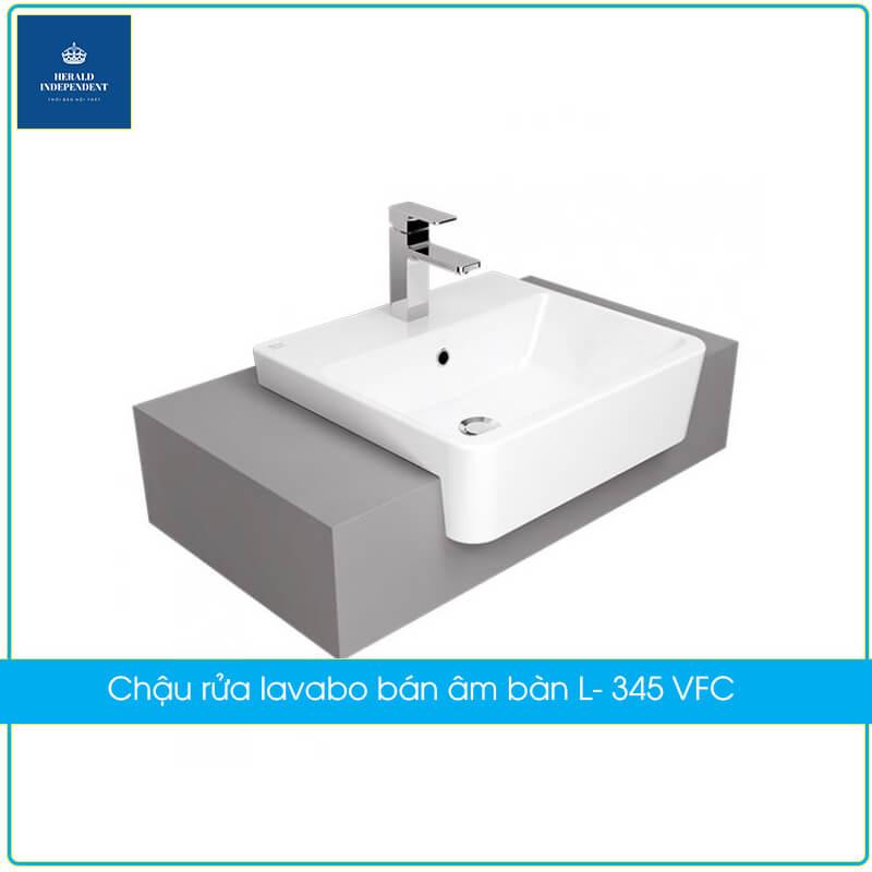 Chậu rửa lavabo bán âm bàn L- 345 VFC