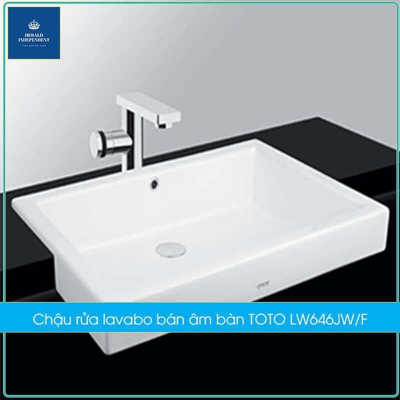 Chậu rửa lavabo bán âm bàn TOTO LW646JW-F