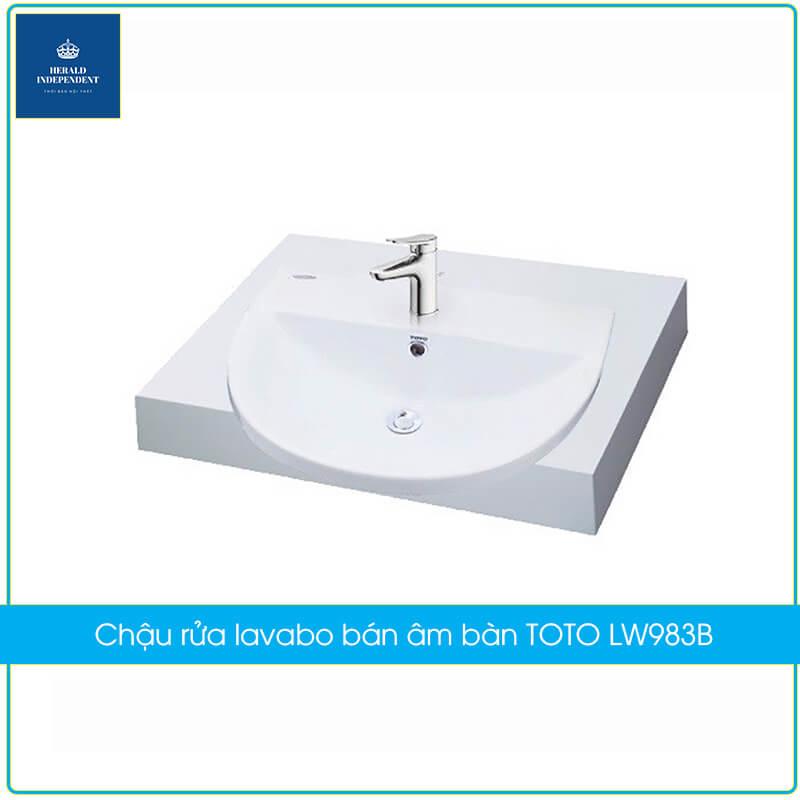 Chậu rửa lavabo bán âm bàn TOTO LW983B
