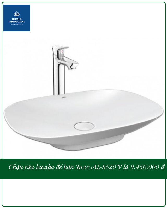 Chậu rửa lavabo để bàn Inax AL-S620V