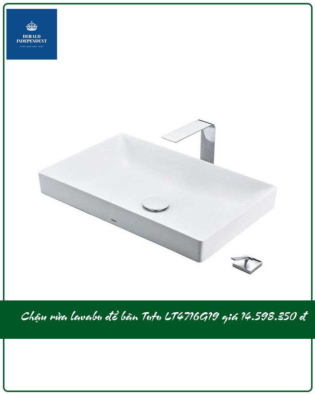 Chậu rửa lavabo để bàn Toto LT4716G19 giá 14.598.000