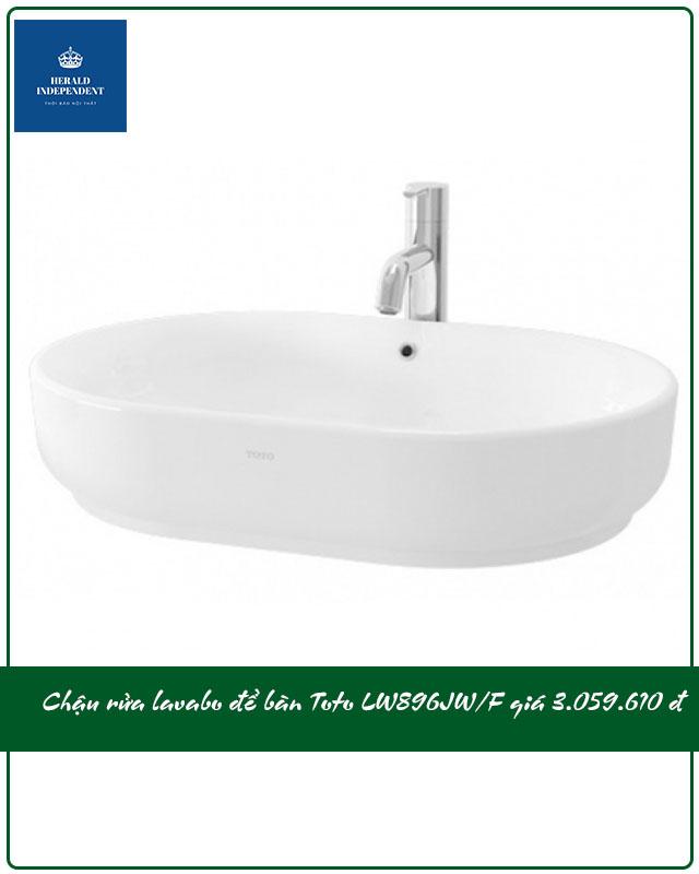 Chậu rửa lavabo để bàn Toto LW896JW-F giá 3.059.000