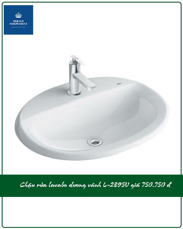 Chậu rửa lavabo dương vành L-2395V giá 750.000