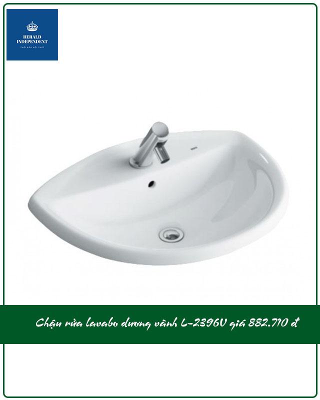 Chậu rửa lavabo dương vành L-2396V giá 882.000
