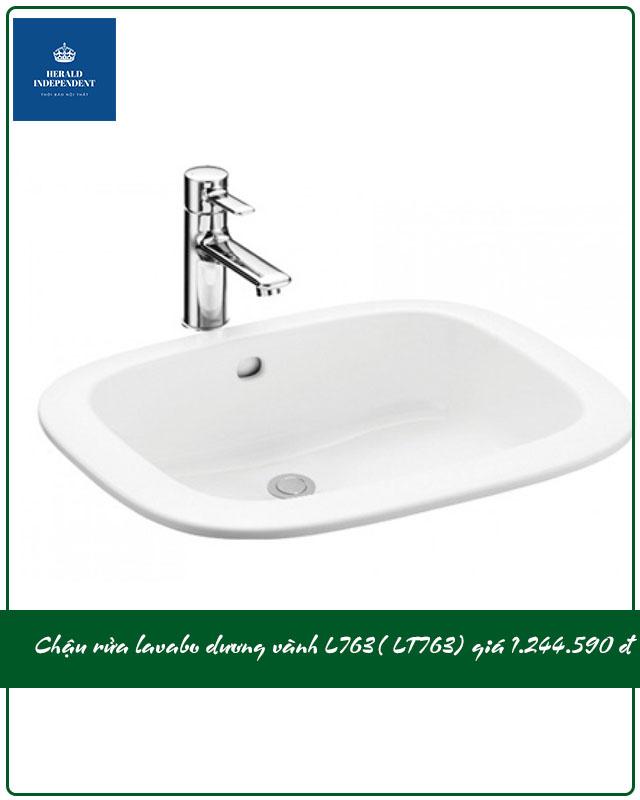 Chậu rửa lavabo dương vành L763( LT763) giá 1.244.000