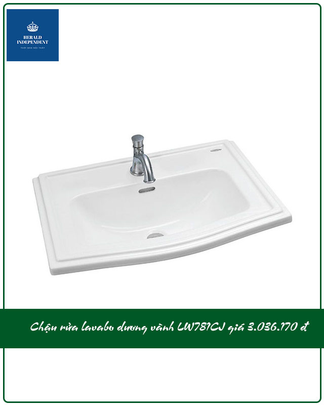 Chậu rửa lavabo dương vành LW781CJ giá 3.036.000