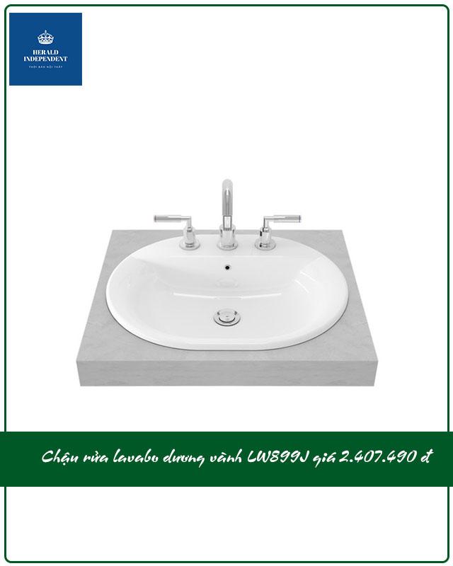 Chậu rửa lavabo dương vành LW899J giá 2.407.000