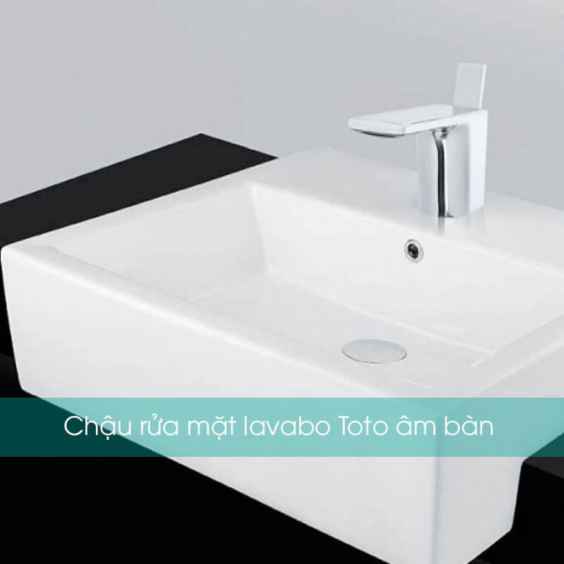 Chậu rửa mặt lavabo Toto âm bàn