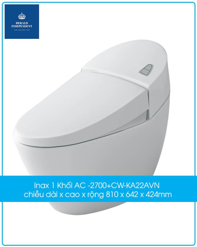 Inax 1 Khối AC -2700+CW-KA22AVN chiều dài x cao x rộng 810 x 642 x 424mm