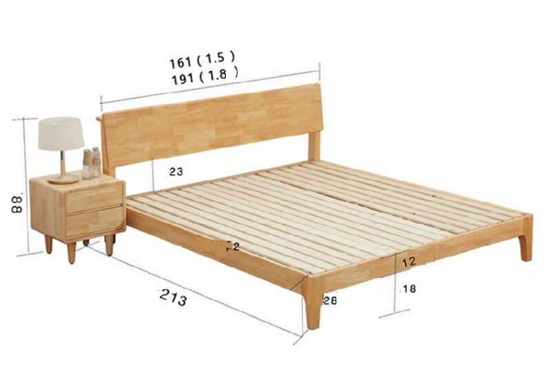 Kích thước của giường ngủ đôi