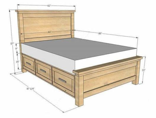 Các mẫu kích thước giường ngủ 1m6 đẹp