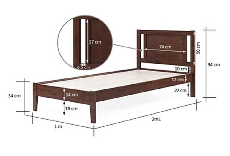 Kích thước giường đơn kiểu Nhật