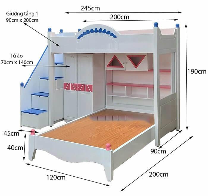 Kích thước giường ngủ master