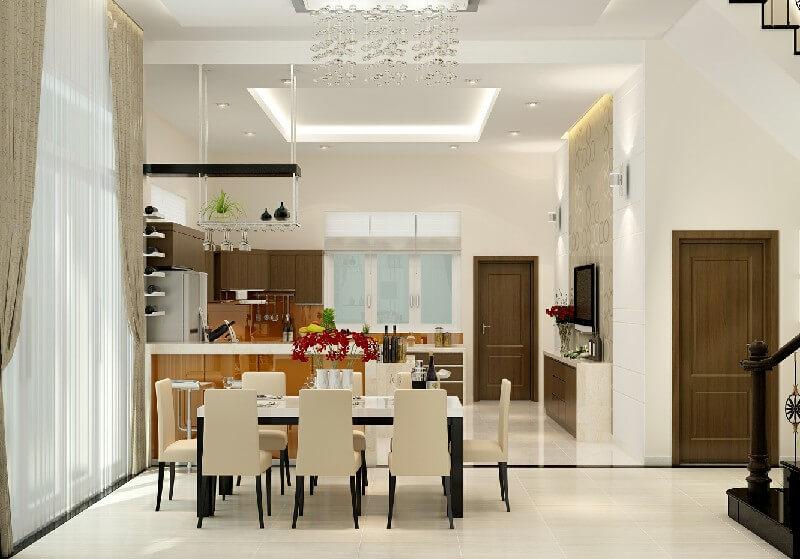 Kinh nghiệm thiết kế bếp giữa nhà