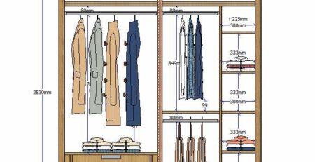 Mẹo thiết kế tủ quần áo đẹp đơn giản